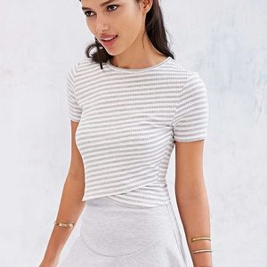 UO Silence + Noise Crossing Over Crop Top